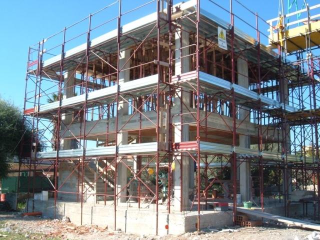 Costruzione villa - Struttura in cemento armato